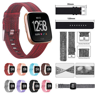 For Fitbit Versa /Versa Lite Strap Replacement Woven Fabric Fabric Watch Band UK