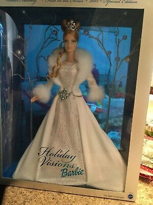 Holiday Visions Barbies x 2  ( 2003 Special Edition. )