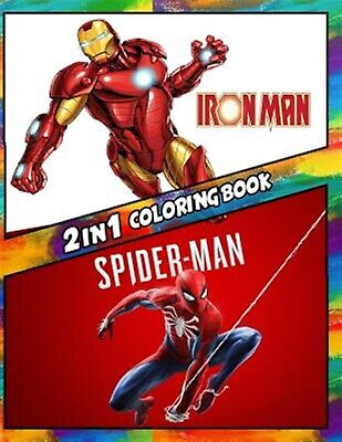 2 in 1 Coloring Book Iron Man Spiderman Best Coloring Book f by Rodvick Spencer