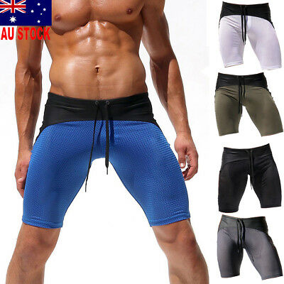 Men's Swimwear Trunks Boxer Swimming Swim Shorts Slim Beach Boxers Pants