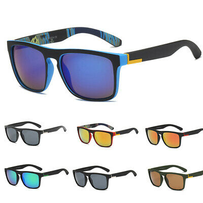 UV400 Outdoor Sports Driving Fishing Mirrored Square Frame Goggles  Sunglasses