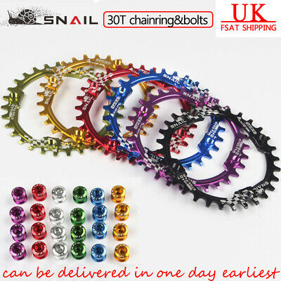 SNAIL 30T AM XC MTB Bike Narrow Wide Chainring + Bolts 104BCD for SHIMANO SRAM