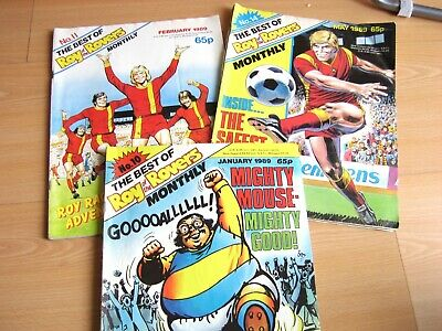 Vintage Comics Roy of the Rovers Monthly 1989 job lot Roy of the Rovers comics