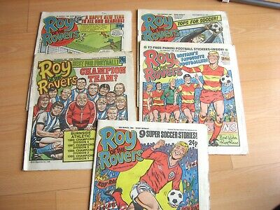 Vintage Comics Roy of the Rovers 1986 jan feb job lot Roy of the Rovers comics