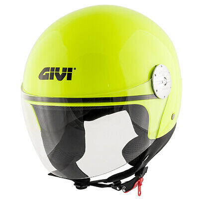 CASCO DEMI JET RODEO DRIVE RD105NFL FLUO ORANGE YELLOW GIALLO SCOOTER HELMET