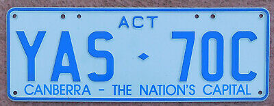 License Plate Number Plate ACT Rare Screened Slogan   YAS 70C