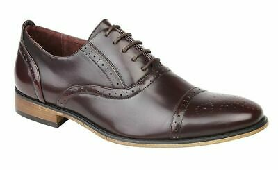 Boys Shoe Brown Brogue Oxford Lace Up Wedding Formal Infant 13 Large Boy 5.5