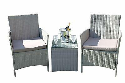Stratford Rattan Weave Garden 2 Seater Bistro Set Complete With Cushions