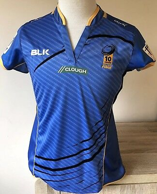 Rugby Union Western Force 10yrs Jersey Ladies Size 14 As New