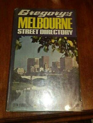 Gregory's Melbourne Street Directory 7th Edn 1972