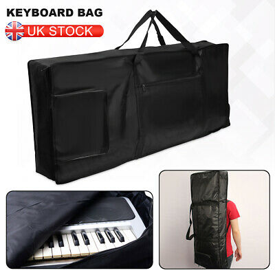 Black 61-key Keyboard Thick Padded Electric Piano Bag Double Shoulder Case UK