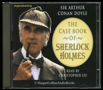 The Casebook of Sherlock Holmes 2CD Christopher Lee reads 3 stories audiobook