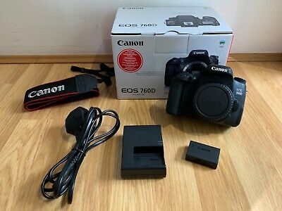 Canon EOS 760D 24.2MP Digital SLR Camera - Black (Body only) Very light use.