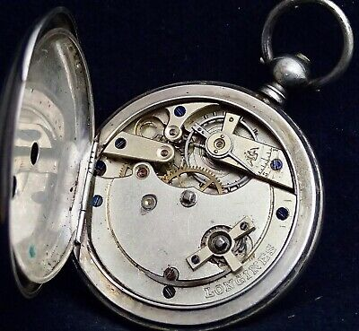 LONGINES  Solid Silver HUNTER Pocket Watch Very  Early 1870`s  no. 44910