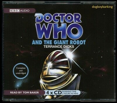 Doctor Who The Giant Robot 4CD audio book Target read by Tom Baker