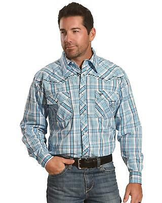 5518e72546a COWBOY HARDWARE SHIRT Men Large Western Red Pearly Snap Floral ...