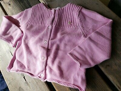 JACADI Girl/'s Asseoir China Grey Button Up Cardigan Sz 18 Months NWT $34