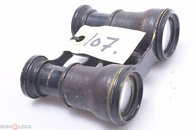 French, English? Antique All Brass Small Size Binoculars Fairly Good Condition