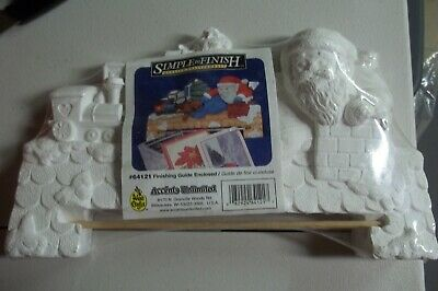 WEE CRAFTS Ready to Paint Santa toys NEW Accents Unlimited Christmas