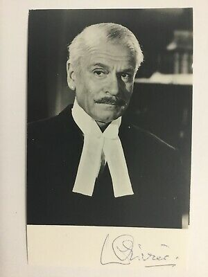 Laurence Olivier Signed Photo Card 9x14cm