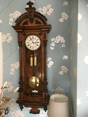Antique Vienna Double Weight 8 Day Chiming Wall Clock
