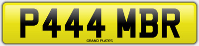 Amber Ambers NUMBER PLATE AMB NO ADDED FEES P444 MBR CAR REGISTRATION AMB AMBERS