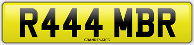 Amber Ambers NUMBER PLATE AMB NO ADDED FEES R444 MBR CAR REGISTRATION AMB AMBERS