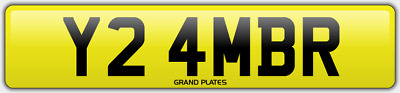 Amber Ambers NUMBER PLATE AMB NO ADDED FEES Y24 MBR CAR REGISTRATION AMB AMBERS