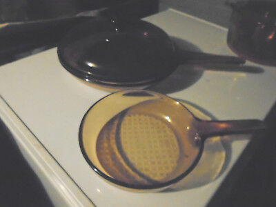 CORNING 3 piece skillet set-large and small one with lid