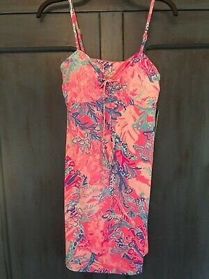 a41a08f2699f7 Lilly Pulitzer Margarete Cover Up Light Pascha Pink Aquadesiac Sz S NWT