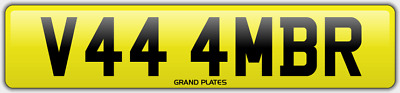 Amber Ambers NUMBER PLATE AMB NO ADDED FEES V444 MBR CAR REGISTRATION AMB AMBERS