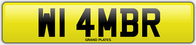 Amber Ambers NUMBER PLATE AMB NO ADDED FEES W14 MBR CAR REGISTRATION AMB AMBERS