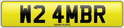 Amber Ambers NUMBER PLATE AMB NO ADDED FEES W24 MBR CAR REGISTRATION AMB AMBERS