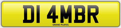 Amber Ambers NUMBER PLATE AMB NO ADDED FEES D14 MBR CAR REGISTRATION AMB AMBERS