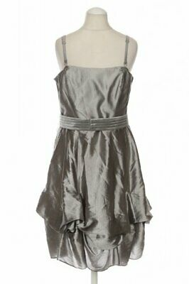 COAST Kleid Damen Dress Damenkleid Gr. INT XS Viskose silber #01027ff