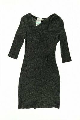 APANAGE Kleid Damen Dress Damenkleid Gr. INT XXS grau #029b666