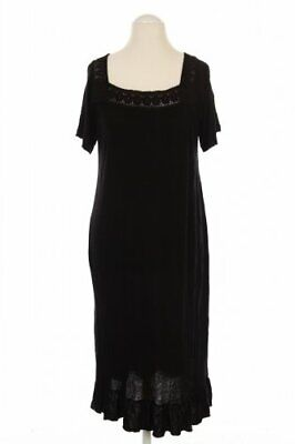 ZARA Kleid Damen Dress Damenkleid Gr. INT 4XL schwarz #1f58635