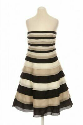 COAST Kleid Damen Dress Damenkleid Gr. UK 8 (DE 34) Viskose beige #263805c