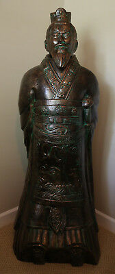 "59"" Terracotta 3/4 size Standing (2 Statues) The Emperor Qin from Xi'an, China"