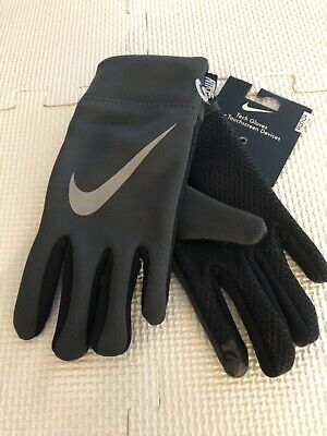 NWT Nike Youth Boys Tech Gloves black / gray Easter Basket