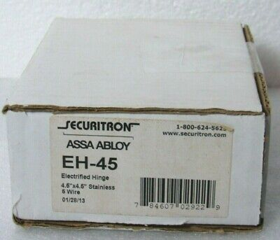 """Securitron ASSA ABLOY EH-45 Concealed Electrified Hinge 4.5"""" x 4.5"""" [CTNO]"""
