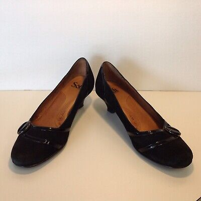 91a32d22403e Sofft Black Suede Patent Leather Pumps Women s size 8M Padded Comfort Insole