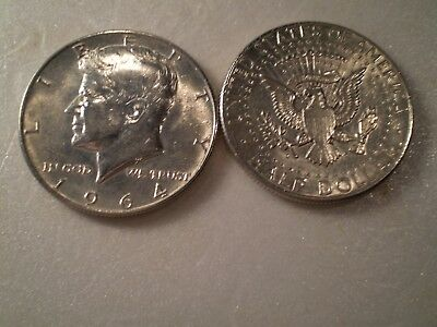 1964D  Kennedy Half Dollar  90% Silver    Uncirculated