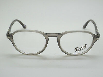98a1bbd57ed26 NEW AUTHENTIC PERSOL 3053-V 1029 Grey Transparent RX 52mm Eyeglasses ...