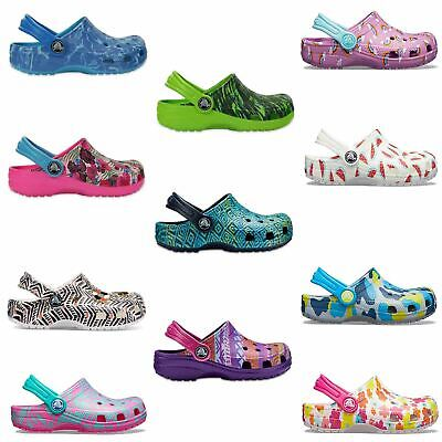 Crocs Classic Graphic & Drew Barrymore  Kids Clogs Shoes Sandals in Wide Colours