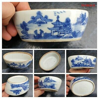 Chine Boite Porcelaine Bleu Blanc Kangxi Box Porcelain Chinese 18Th Blue White