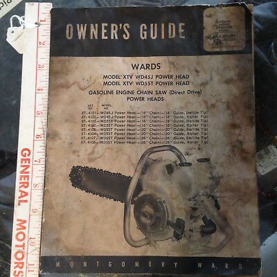 Vintage Montgomery Wards Chain Saw Operators Manual Owners Guide Original Gas 17 50 Picclick