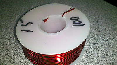 MAGNET WIRE 15 AWG  100 ft Red (about 1.5 lbs