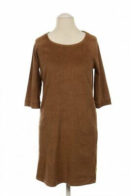 Comma Kleid Damen Dress Damenkleid Gr. DE 34 Elasthan braun #d86fcfa