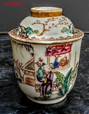 Chine Tasse Couverte Porcelaine Famille Rose Export 18Eme Cup Chinese Porcelain